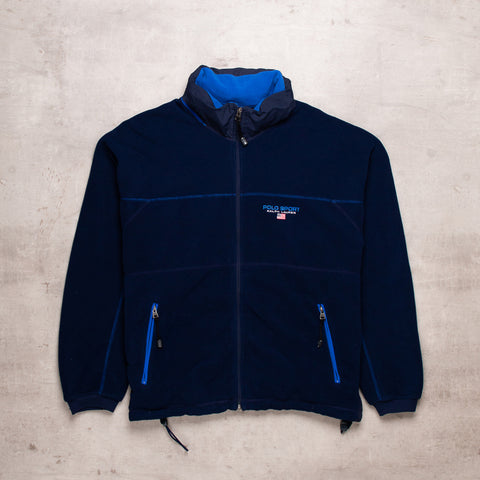 90s Polo Sport Spell Out Fleece (L)