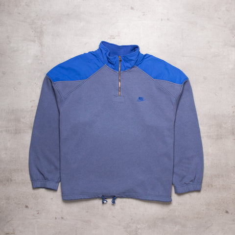 Vintage Nike Spell Out Quarter Zip (XXL)