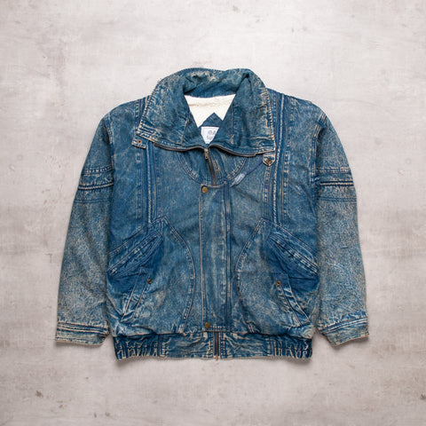 80s Heavy Denim Jacket (L)
