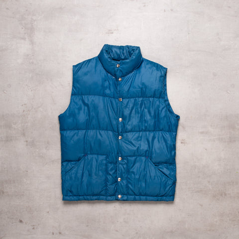 80s North Face Steely Blue Gillet (S)