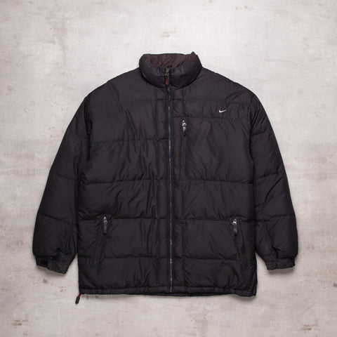 90s Nike Black Out Puffer Jacket (M)
