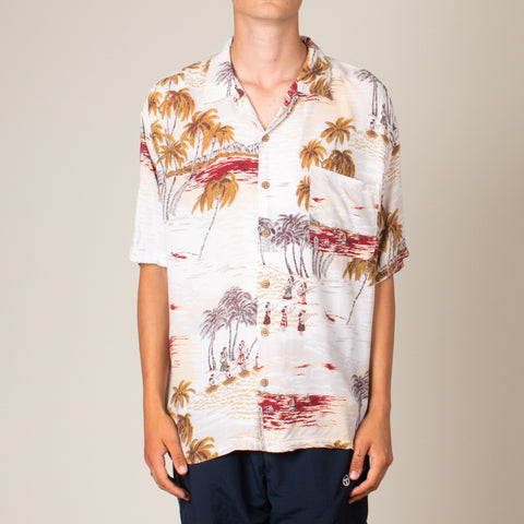 Vintage Rayon Vacation Shirt (L)