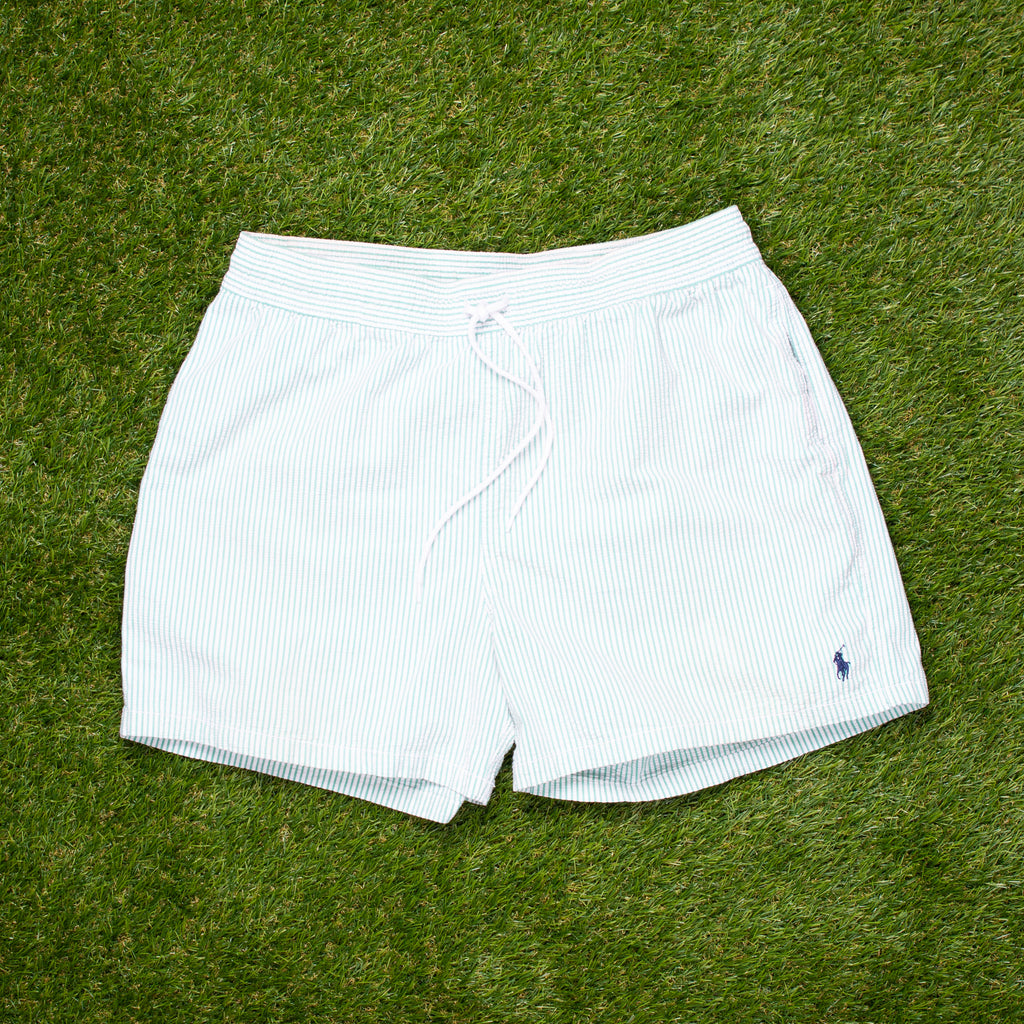 90s Ralph Lauren Pin Seersucker Swimming Shorts (M)