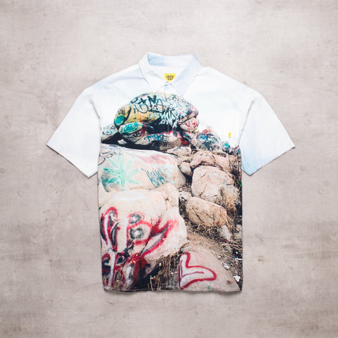 FRESH IGGY New York Graffiti Print Shirt (L)