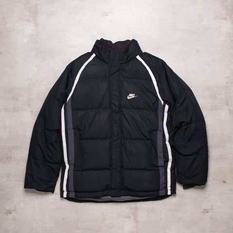 00s Nike Black Out Puffer Jacket (M)