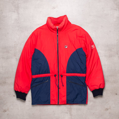 80s FILA Colour Block Ski Jacket (L)