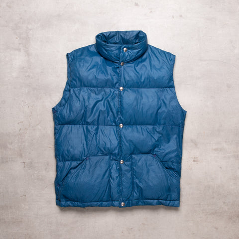 80s North Face Steel Blue Down Gillet (S)