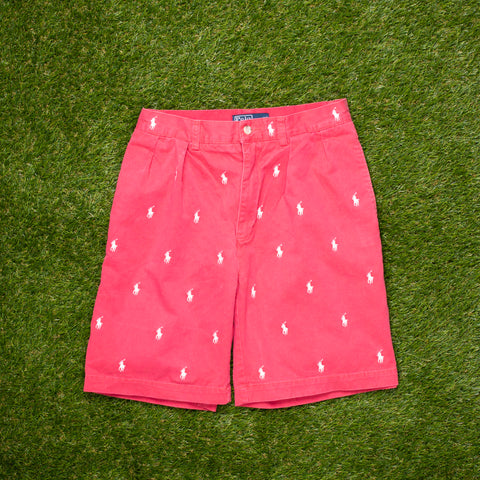 90s Ralph Lauren All Over Pony Shorts (28 - 30)