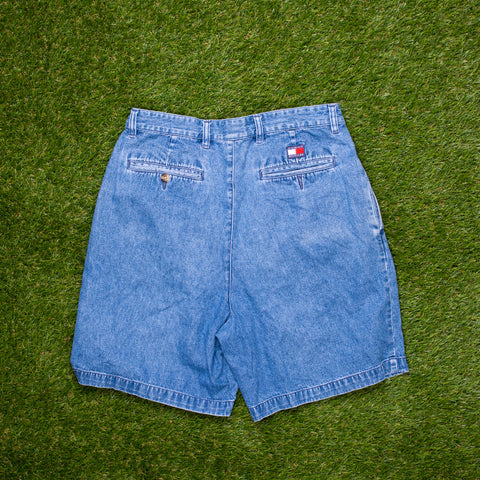 90s Tommy Hilfiger Denim Shorts (28 - 30)