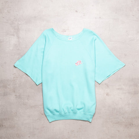 80s Nike Teal Half Sleeve Sweat (M)