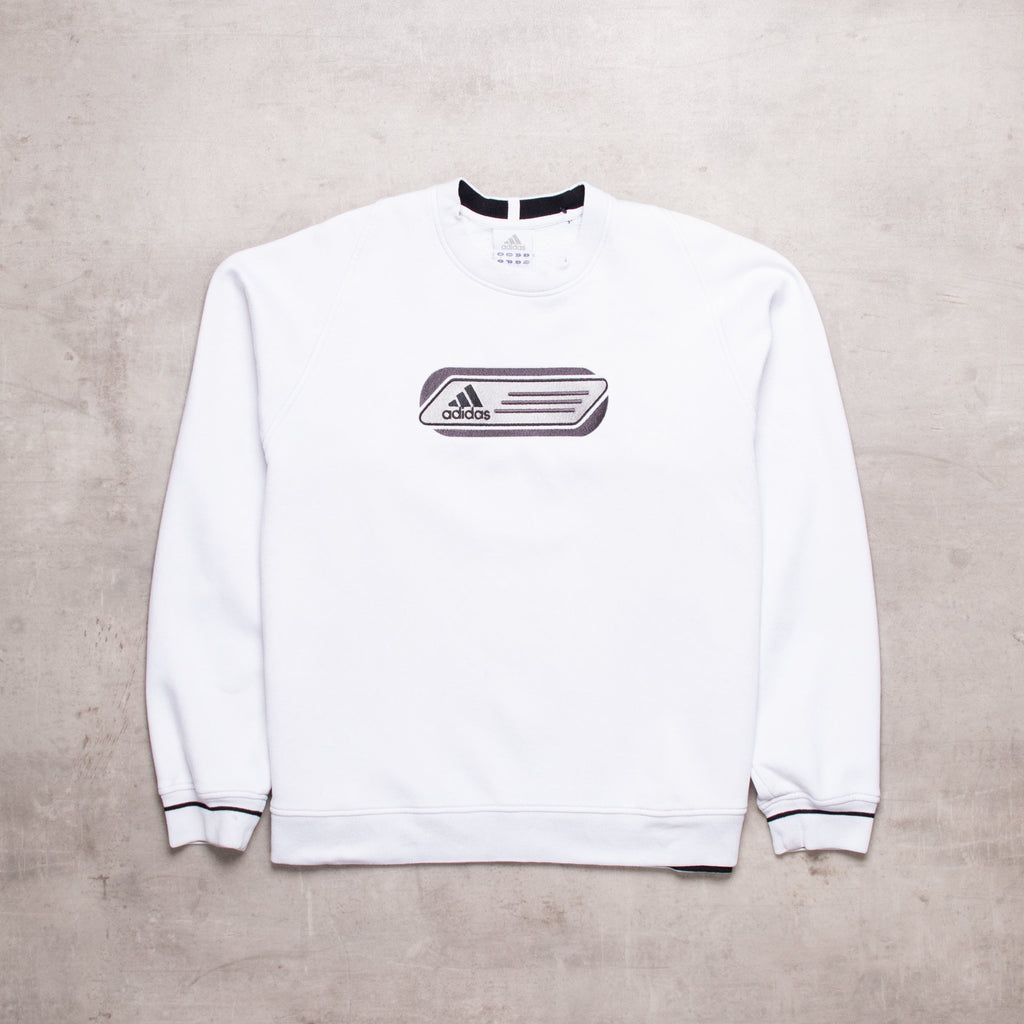 00s Adidas Embroidered Out Sweat (XS / Ladies)