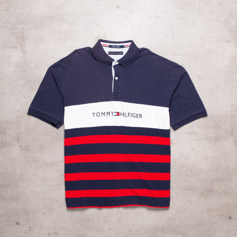00s Tommy Hilfiger Spell Out Polo (XL)