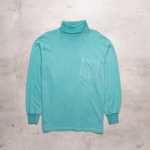 90s Ralph Lauren Mint Mock Neck Sweat (S)