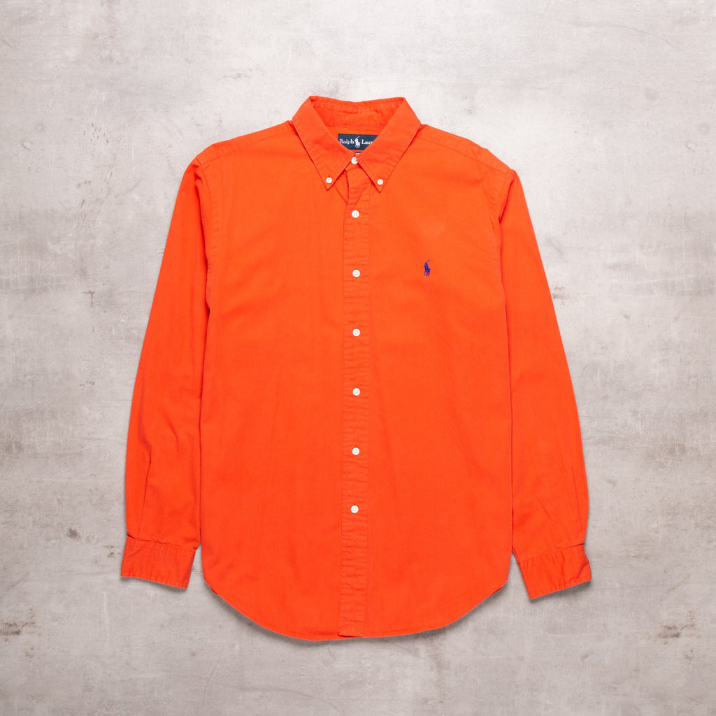 90s Ralph Lauren Burnt Orange Shirt (M)