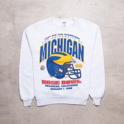'98 Michigan Rose Bowl Pro Team Sweat (M)