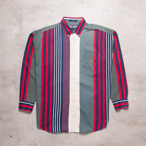 90s Ralph Lauren Striped Shirt (L)