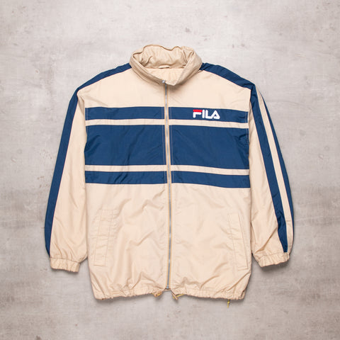 90s FILA Spell Out Windbreaker (L)