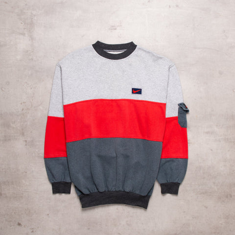 90s Nike Colour Block Bootleg Sweat (S)