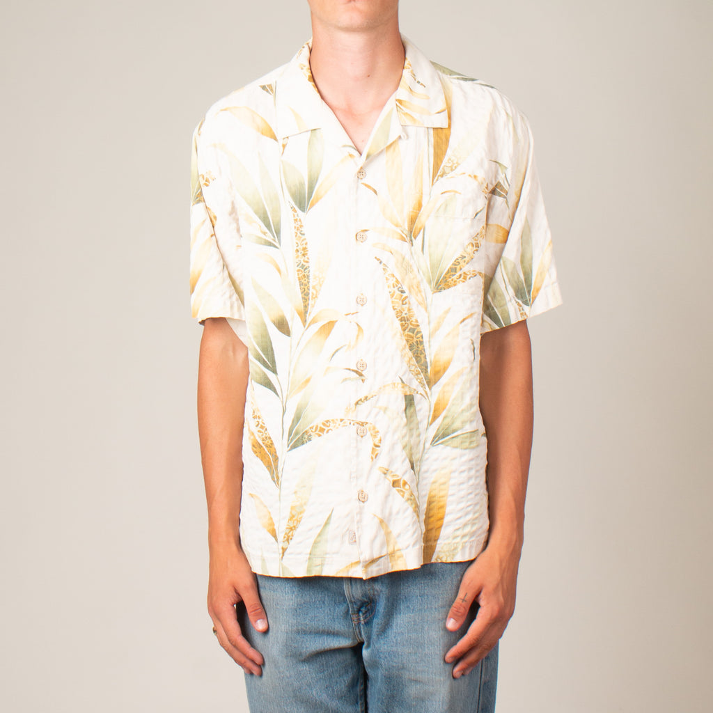 Vintage Silk Vacation Shirt (L)