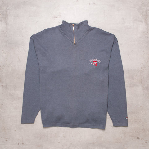 90s Reebok Pocket Spell Out Quarter Zip (L / XL)