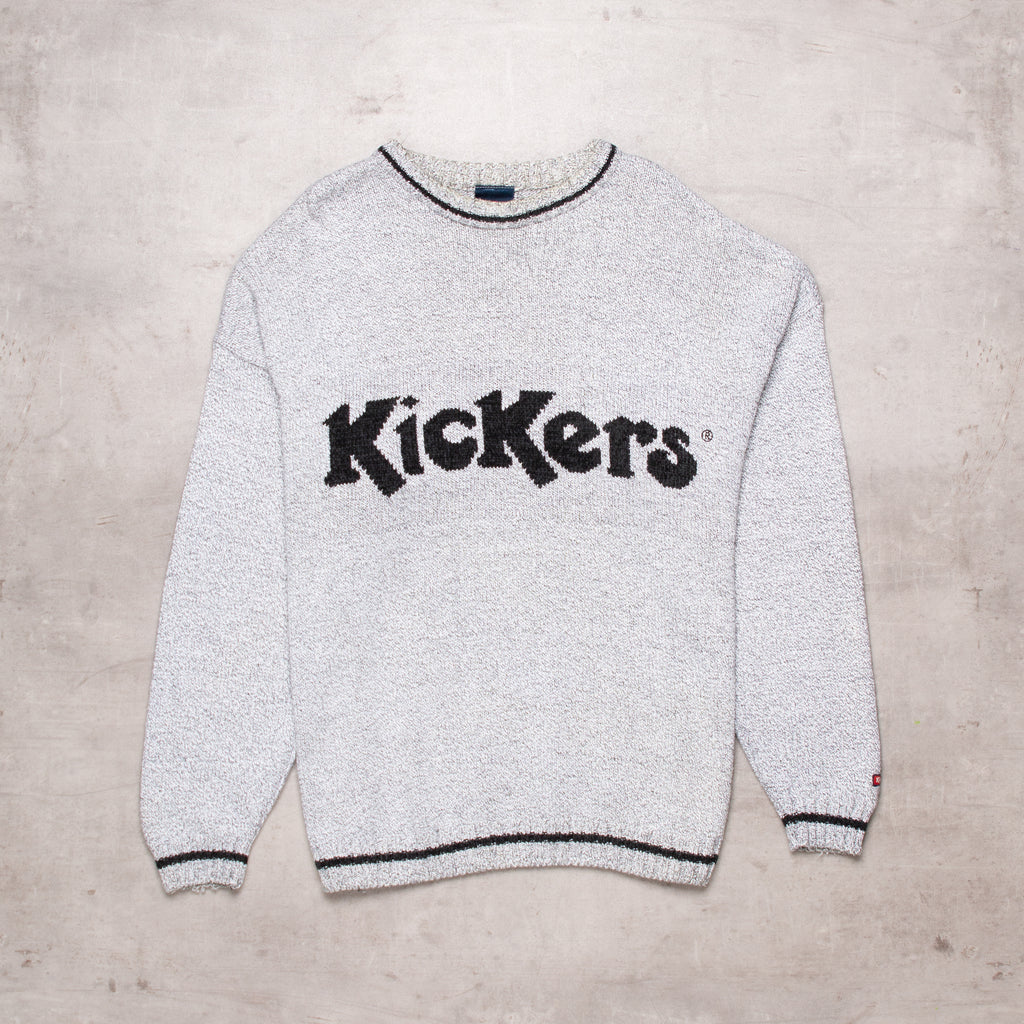 90s Kickers Spell Out Sweater (L)