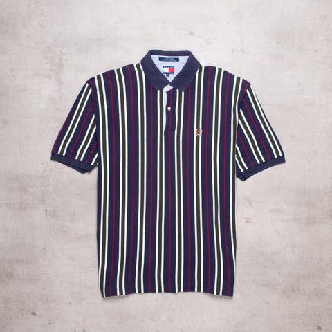 90s Tommy Hilfiger Striped Polo (XL)