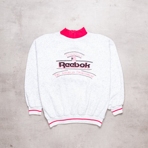 90s Reebok Collared Embroidered Sweat (XS / Ladies)