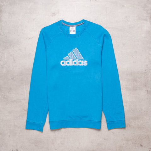 00s Adidas Pocket Spell Out Sweat (XS / Ladies)