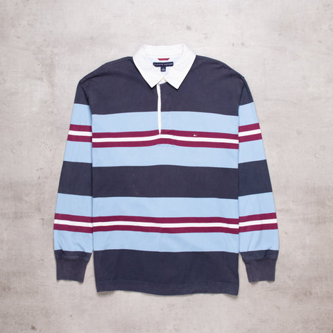 00s Tommy Hilfiger Striped Rugby (L)