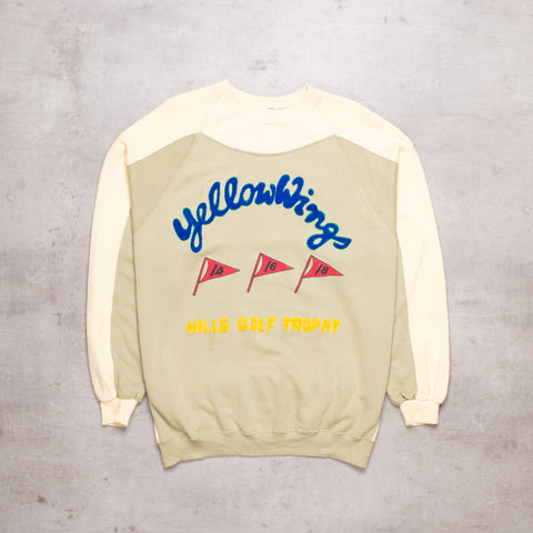 80s Yellow Wings Chennile Sweat (M)
