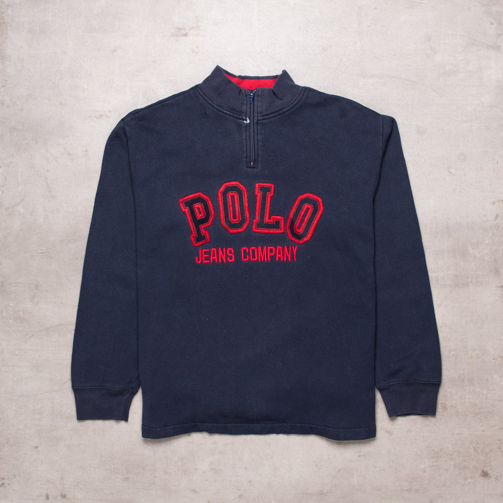 90s Ralph Lauren Spell Out Quarter Zip (M)