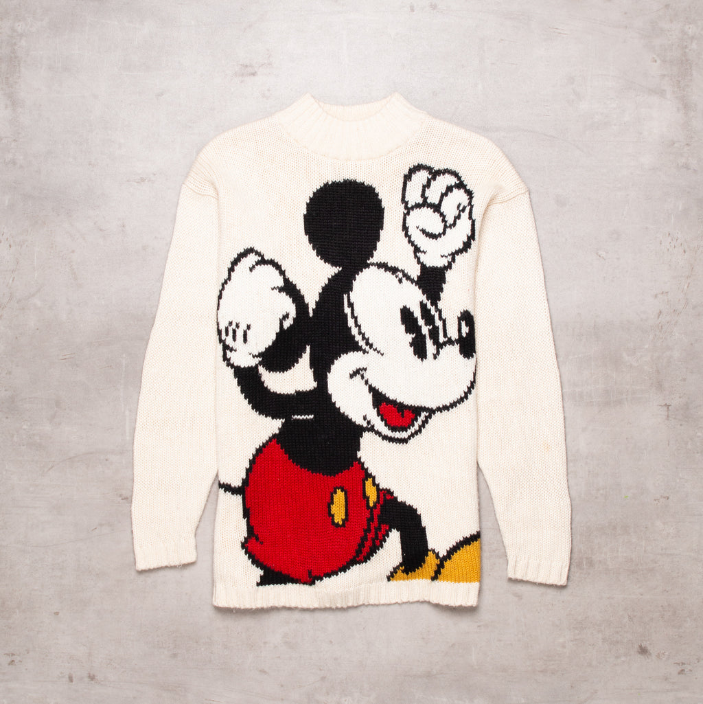 Vintage Mickey Mouse Knitted Sweater (M)