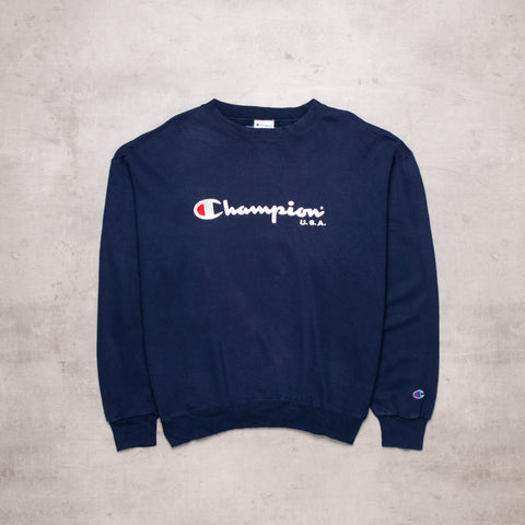 Vintage Champion Spell Out Sweat (L)