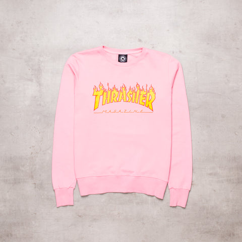 Vintage Thrasher Candy Pink Sweat (S)