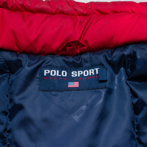 Vintage Polo Sport Henley Pocket Spell Out (L)
