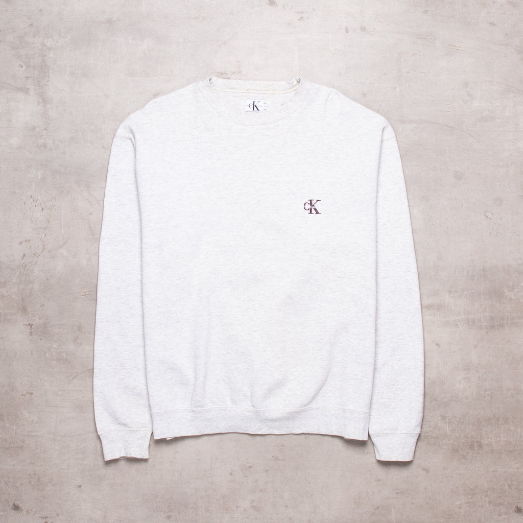 90s Calvin Klein Pocket Spell Out Sweat (M/L)