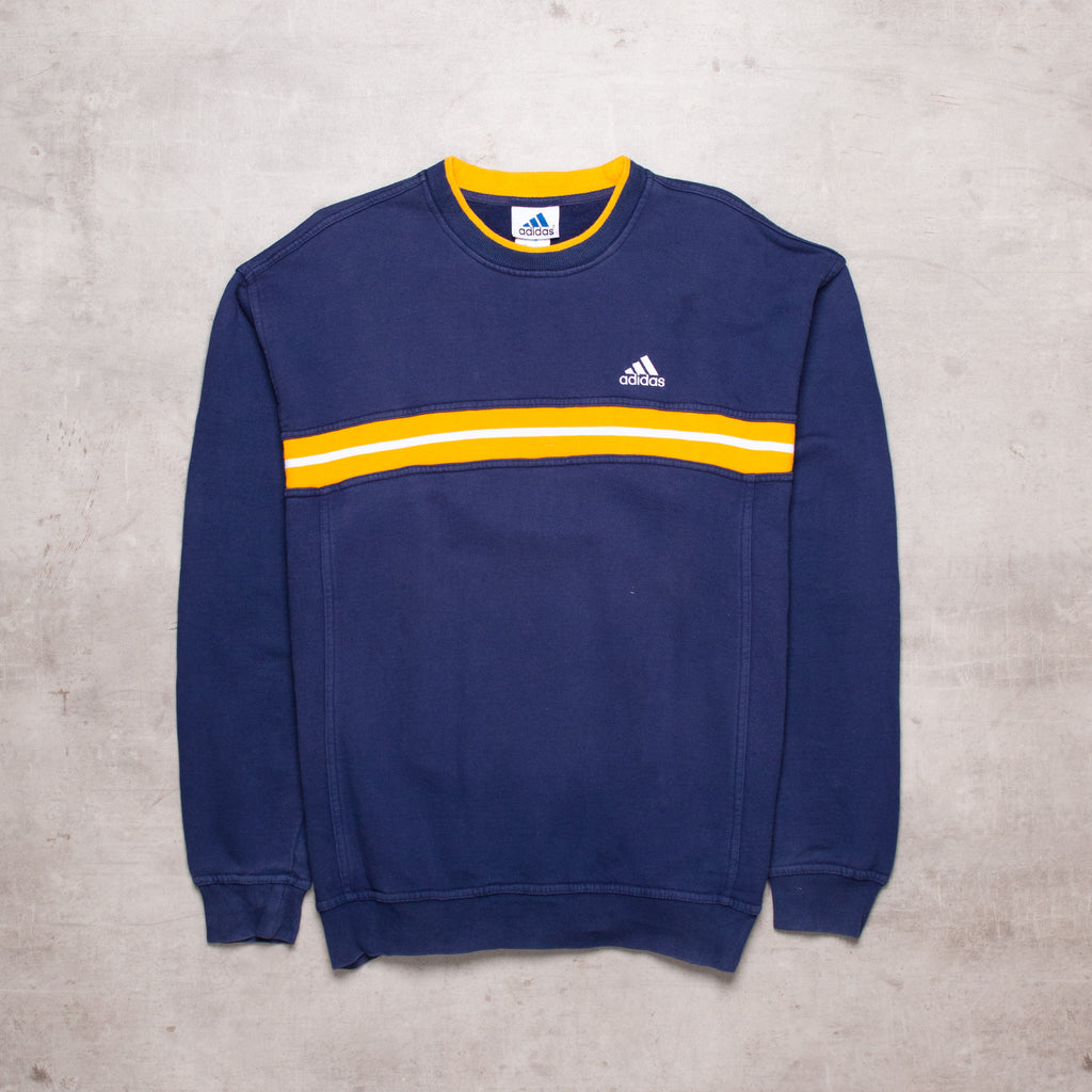 90s Adidas Contrast Spell Out Sweat (M)