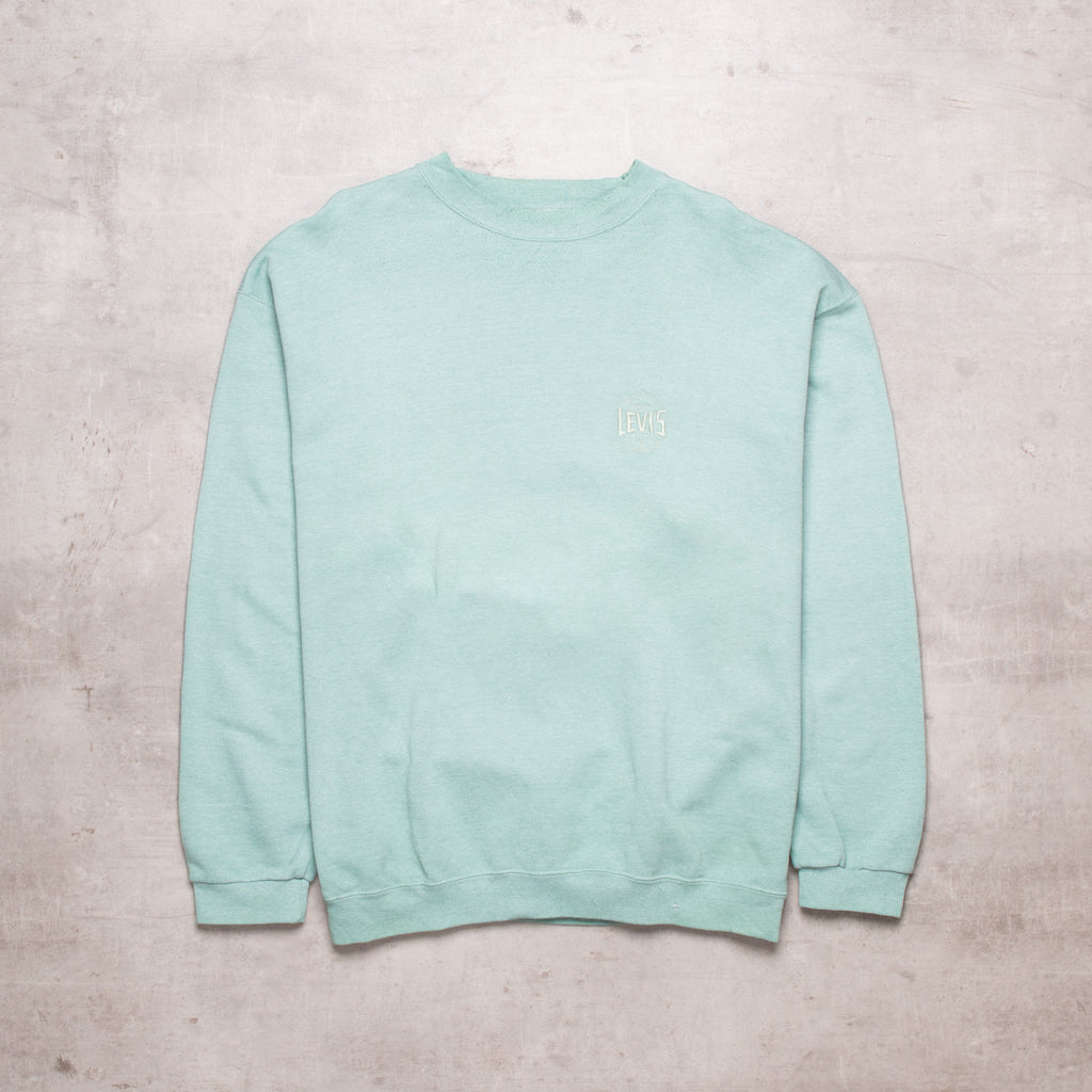 Vintage Levis Mint Green Pocket Spell Out Sweat (L)