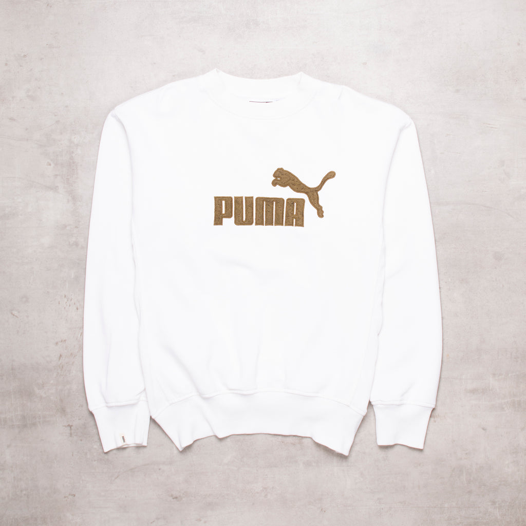 Vintage Puma Spell Out Sweat (M)