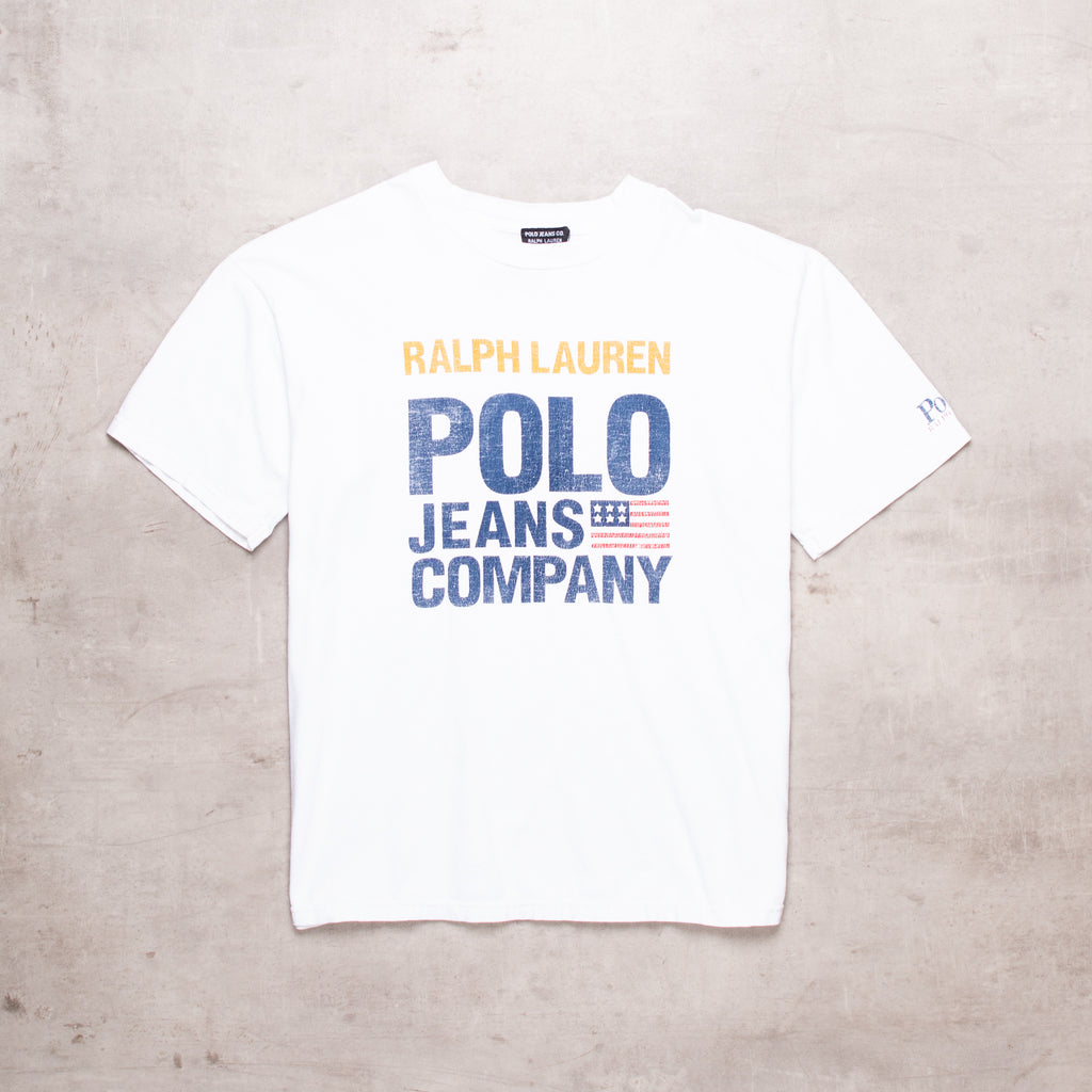 90s Ralph Lauren Spell Out Tee (M)