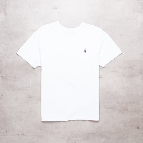 90s Ralph Lauren White Basic Tee (M)
