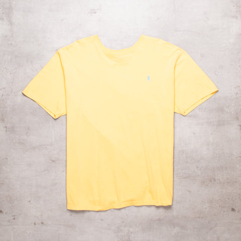 90s Ralph Lauren Yellow Basic Tee (XL)