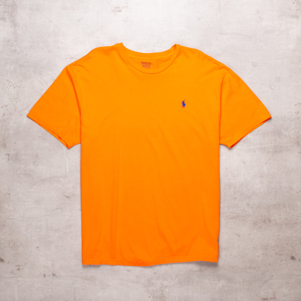 90s Ralph Lauren Orange Basic Tee (L)