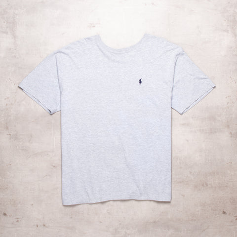 90s Ralph Lauren Grey Basic Tee (M/XL)