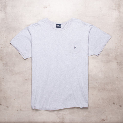 90s Ralph Lauren Grey Basic Tee (L)