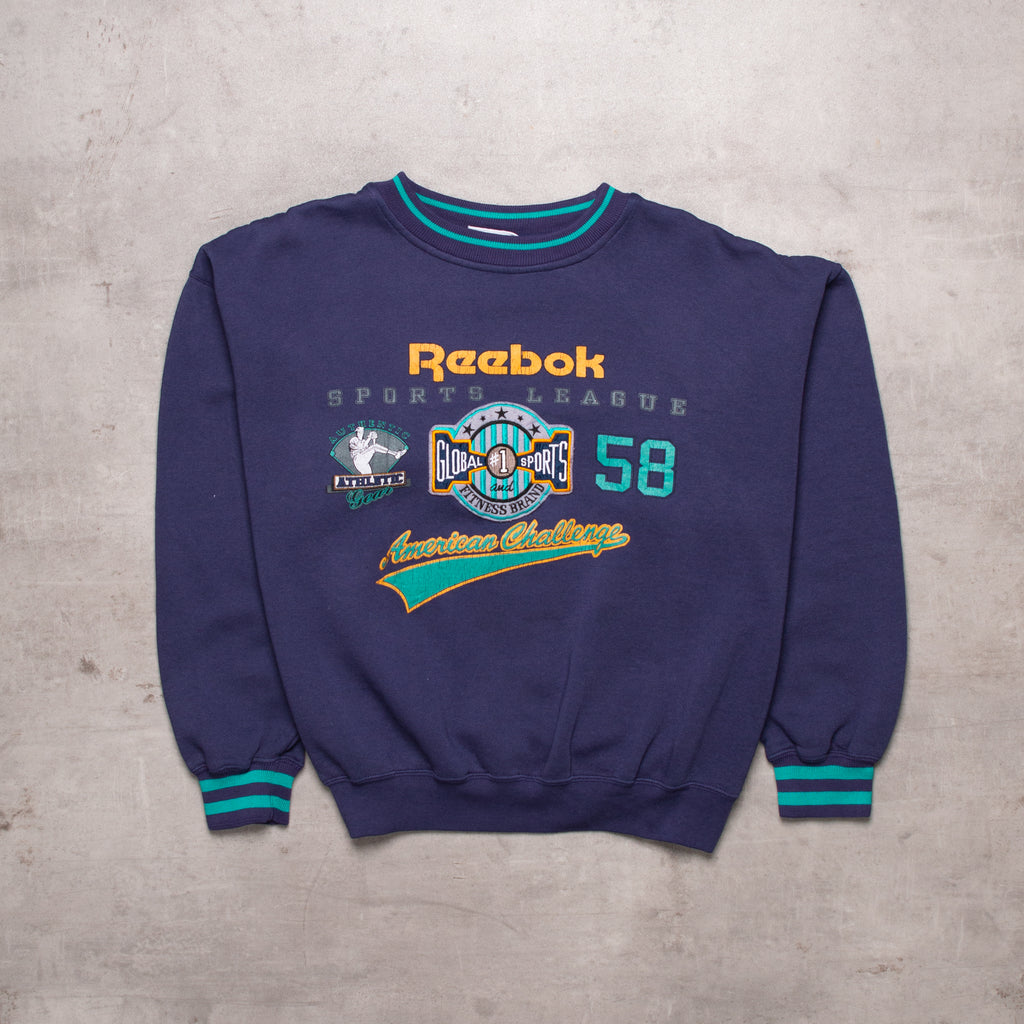 Vintage Reebok Spell Out Sweat (M)