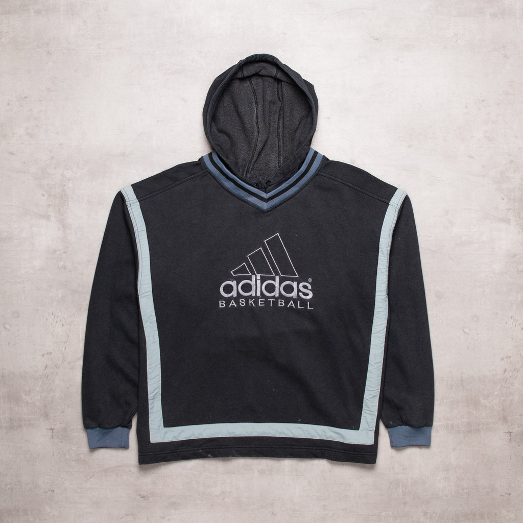 Vintage Adidas Spell Out Hoodie (M)