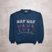 Vintage Naf Naf Spell Out Sweat (XL)