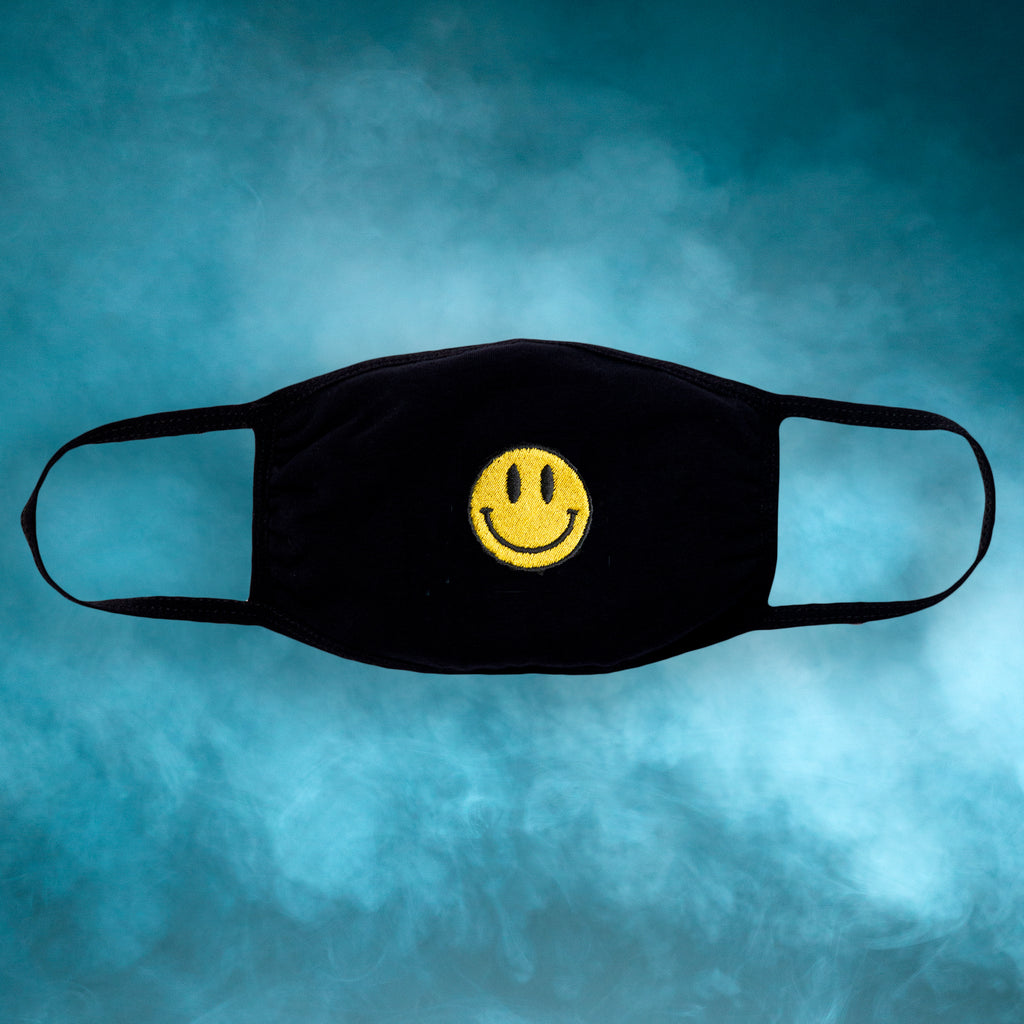 Smiley Embroidered Face Mask