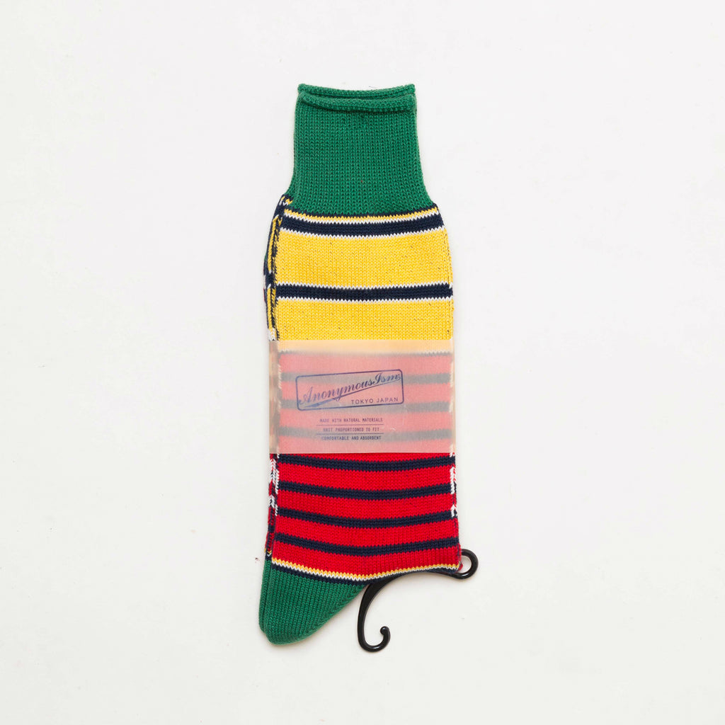 FRESH Anonymous Ism Moss Stripe Crew Socks